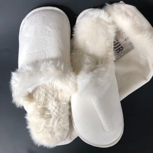 Restoration Hardware Faux Article Fox Slippers